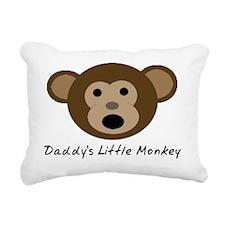 Daddys Little Monkey Rectangular Canvas Pillow