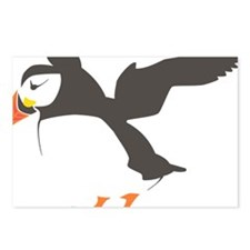 Puffin with Wings Postcards (Package of 8)