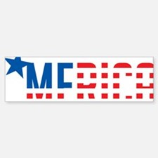 US Flag MERICA Bumper Bumper Sticker
