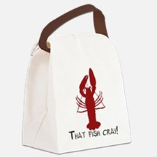 That Fish Cray Canvas Lunch Bag