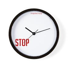 Stop Ineptocracy Wall Clock