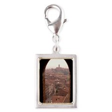 OVERVIEW OF SIENA, ITALY Silver Portrait Charm