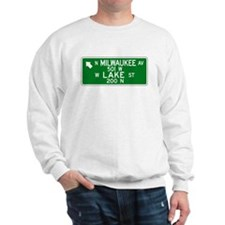 Milwaukee Ave.-Lake St., Chicago (US) Sweatshirt
