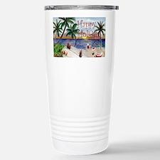 Santas Beach Break Travel Mug