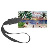 Christmas beach Luggage Tags