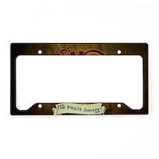 the pirate Shoppe logo backgr License Plate Holder