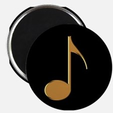 "Gold Eighth Note 2.25"" Magnet (10 pack)"