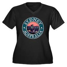 Sydney, Aust Women's Plus Size Dark V-Neck T-Shirt