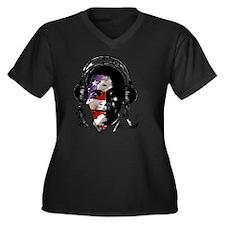 PopHarvey Ba Women's Plus Size Dark V-Neck T-Shirt