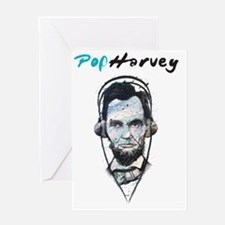 PopHarvey Abraham Lincoln Combo Greeting Card