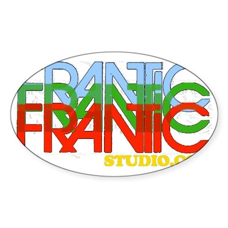 Iconic Avante Garde Frantic Studio Sticker (Oval)