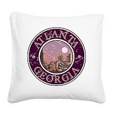 Atlanta, Georgia Square Canvas Pillow