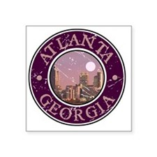 "Atlanta, Georgia Square Sticker 3"" x 3"""