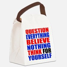 Question Everything Canvas Lunch Bag