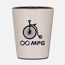 Antique Bicycle Infinity MPG light Shot Glass