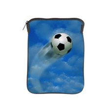 SOCCER BALL FLYING INTO THE SKY iPad Sleeve