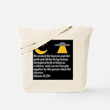 Quran 42:29 Tote Bag