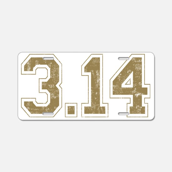 Mathletic_Back Aluminum License Plate