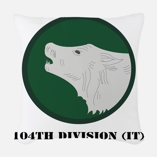 104th Division (IT) with Text Woven Throw Pillow