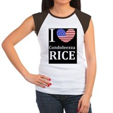 RICE I LOVEDBUTTON Women's Cap Sleeve T-Shirt