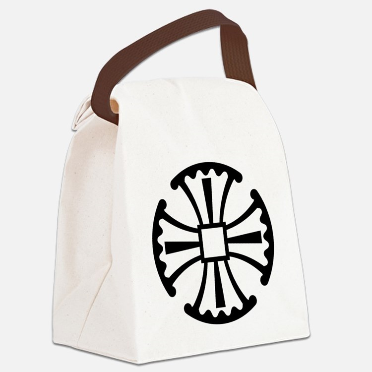 CanterburyCrossBlack Canvas Lunch Bag