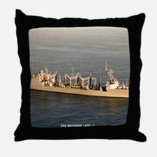 uss roanoke framed panel print Throw Pillow