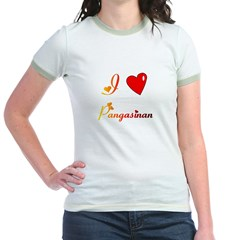 I Love Pangasinan Gifts Jr. Ringer T-Shirt