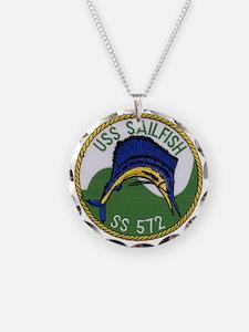 uss sailfish patch transpare Necklace
