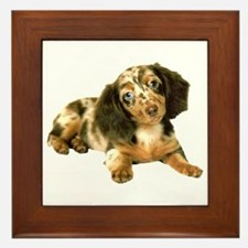 Shy_Low Puppy Framed Tile