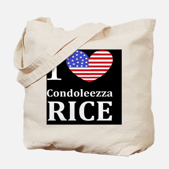 RICE I LOVEDBUTTONL Tote Bag