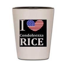 RICE I LOVEDBUTTONL Shot Glass