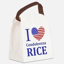 RICE I LOVEDBUTTONLL Canvas Lunch Bag