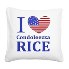 RICE I LOVEDBUTTONLL Square Canvas Pillow