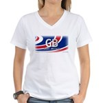 Great Britain Pride Women's V-Neck T-Shirt