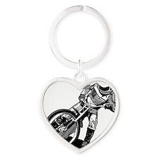 Speedway Heart Keychain