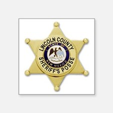 "Lincoln County Sheriff Badg Square Sticker 3"" x 3"""