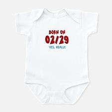 Born On 02/29 Infant Bodysuit