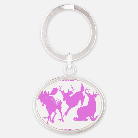 This Girl Hunts Oval Keychain