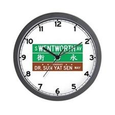 Wentworth Ave., Chicago (US) Wall Clock