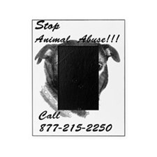 STOP ANIMAL ABUSE Picture Frame