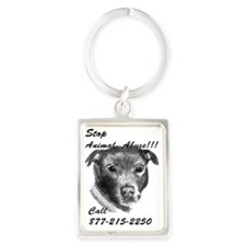STOP ANIMAL ABUSE Portrait Keychain