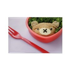 Lunch box with fork Rectangle Magnet