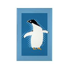 Penguin Posing Rectangle Magnet