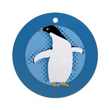 Penguin Posing Ornament (Round)
