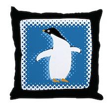 Penguin Posing Throw Pillow