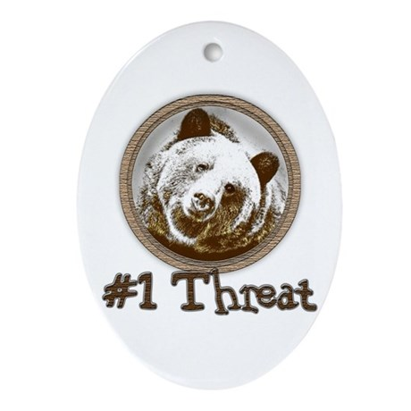 #1 Threat!... Oval Ornament