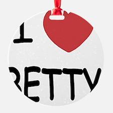 I heart BETTY Ornament