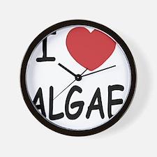 I heart algae Wall Clock
