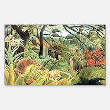 Henri Rousseau Tiger In A Trop Decal