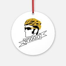 wiggo_blackyellow_3 Round Ornament